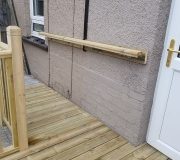 Decking with hand rail