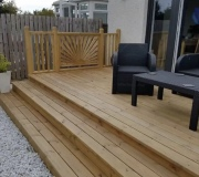 Decking with three steps