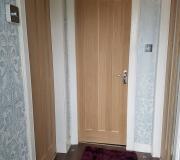 Oak Vertical three panel internal door