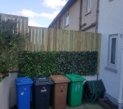 Fencing above hedge