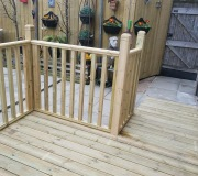 Wooden Decking with ramp
