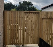 6ft wooden fence and gates