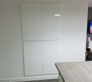 White gloss storage doors