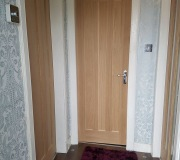 Oak Vertical three panel internal door