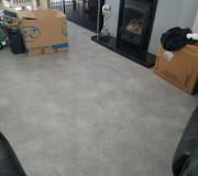 Light Grey luxury vinyl flooring