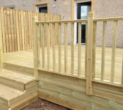Decking with step