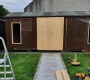 Garage Renovation Double Doors