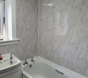 White and Grey Marble effect wet wall panels