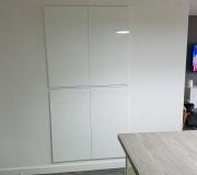 White gloss storage doors